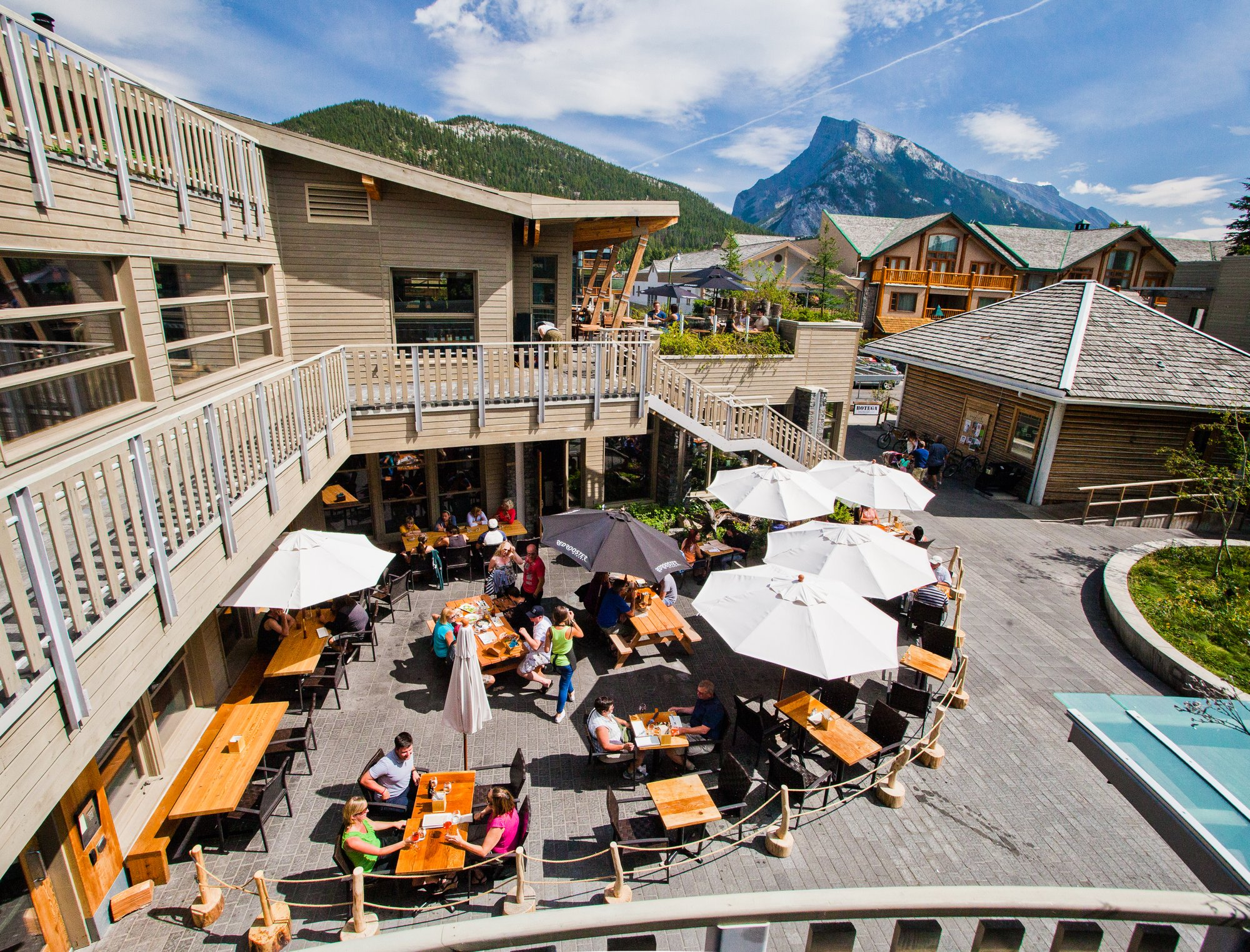 Banff and Lake Louise Eat and Drink Summer Patio