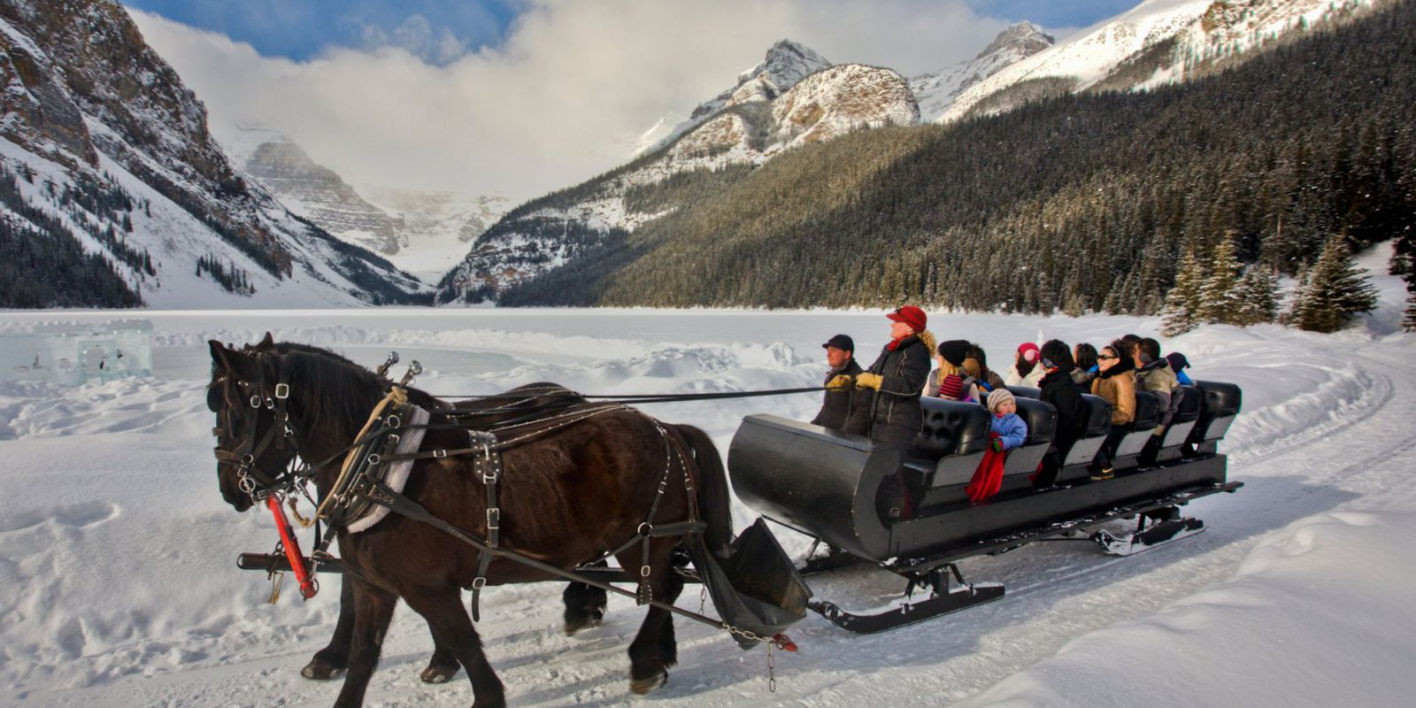 Sleigh Rides In Banff National Park Banff Amp Lake Louise