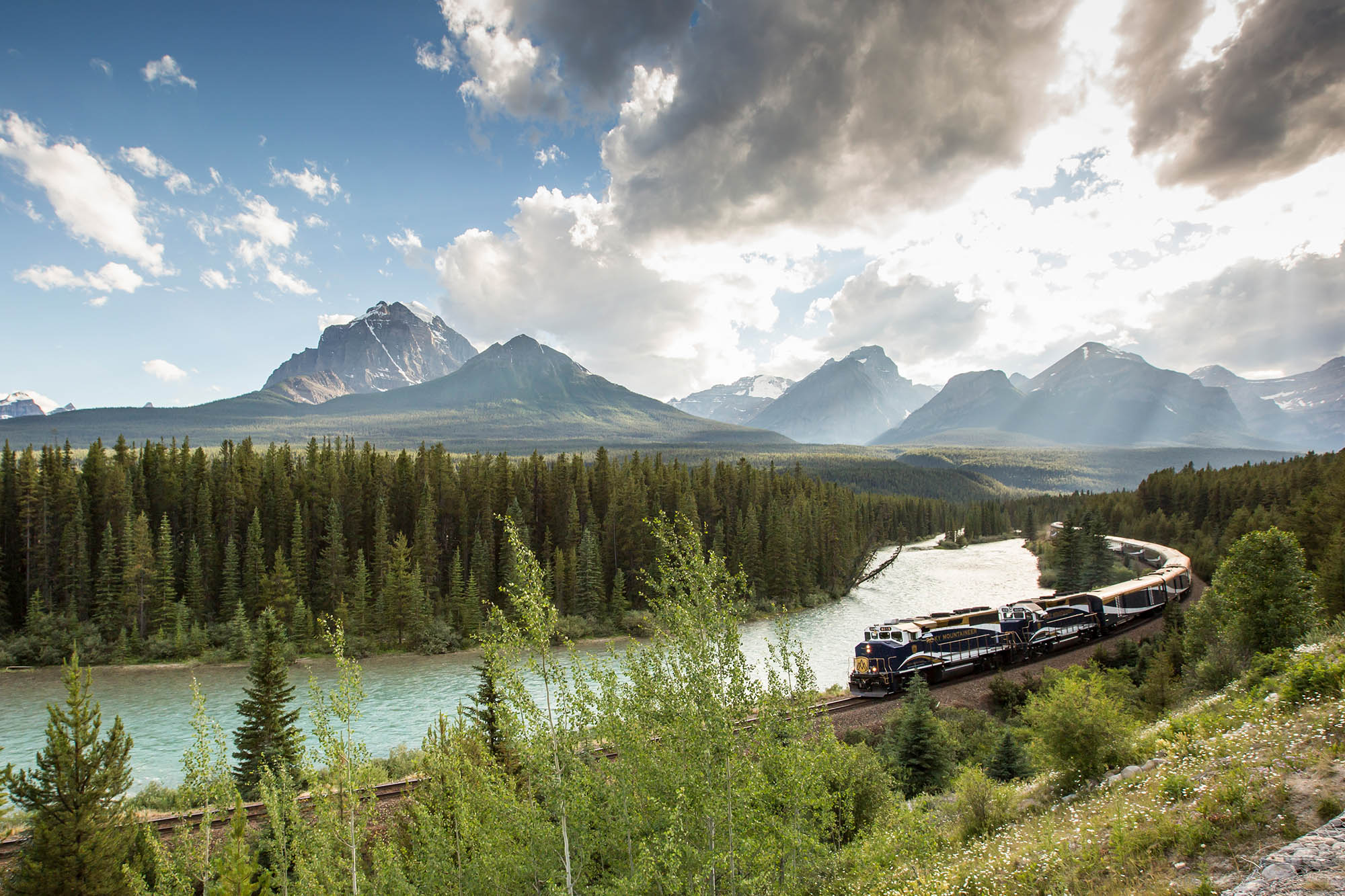 Rocky Mountaineer Train in Banff National Park