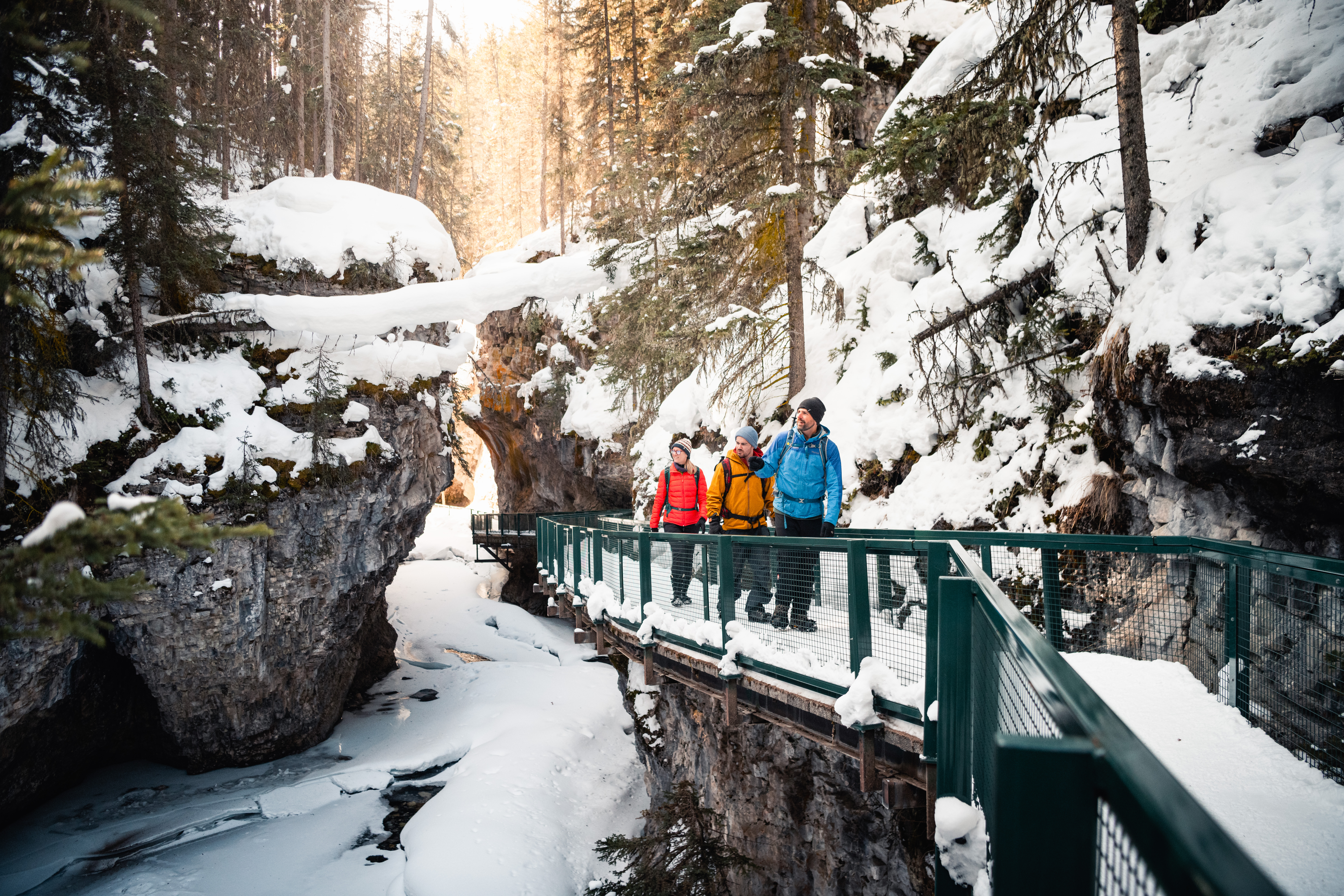 Ice Walk of Johnston Canyon in Banff National Park